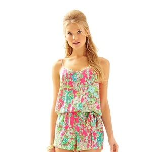 Lilly Pulitzer Deanna Romper Southern Charm M